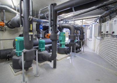 Koelverdeler DN400 Compleet naar tekening gebouwd in de werkplaats te Rijssen en opgebouwd door de monteurs van de BAM